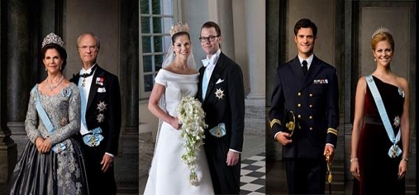 I componenti della famiglia reale svedese al completo