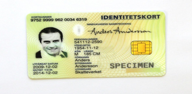 Richiedere la carta di identità svedese