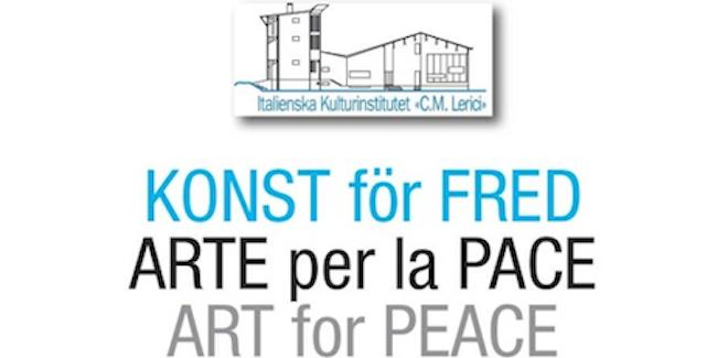 Arte per la pace all'istituto italiano di cultura di Stoccolma