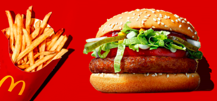 Arriva il McVegan in Svezia e Finlandia, l'hamburger vegano di McDonald
